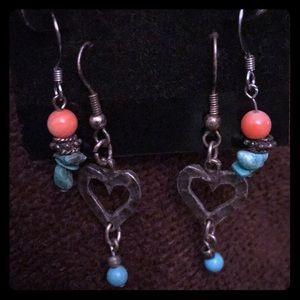 Adorable set of two dangling earrings